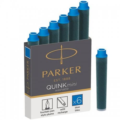 Синие неводостойкие картриджи Parker (Паркер) Quink Mini Cartridges Washable Blue 6шт в Уфе