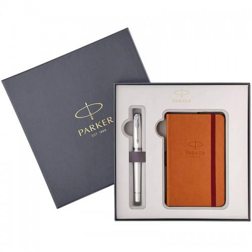 Набор с блокнотом и перьевой ручкой Parker (Паркер) Urban Premium Pearl Metal CT M в Уфе