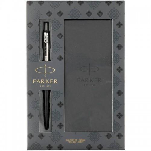 Подарочный набор из шариковой ручки Parker (Паркер) Jotter Core Bond Street Black CT и блокнота в Уфе