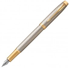Перьевая ручка Parker (Паркер) IM Premium Warm Silver/Gold GT F