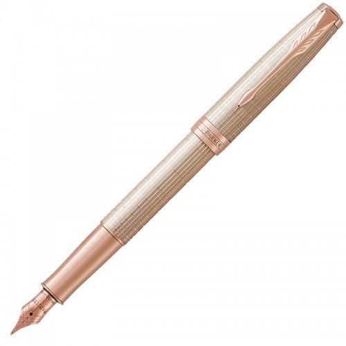 Перьевая ручка Parker (Паркер) Sonnet Luxury Cisele Silver PGT F в Уфе