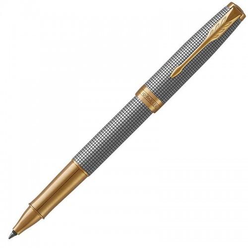 Ручка-роллер Parker (Паркер) Sonnet Luxury Cisele Silver GT в Уфе