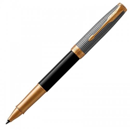 Ручка-роллер Parker (Паркер) Sonnet Premium Black Silver GT в Уфе