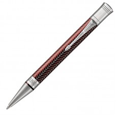 Шариковая ручка Parker (Паркер) Duofold Prestige Burgundy Chevron CT