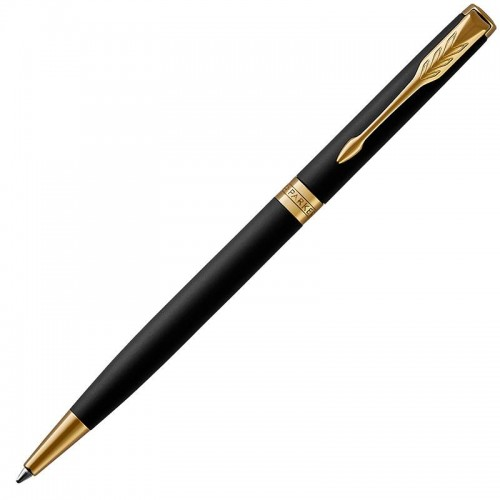 Шариковая ручка Parker (Паркер) Sonnet Core Slim Matte Black Lacquer GT в Уфе