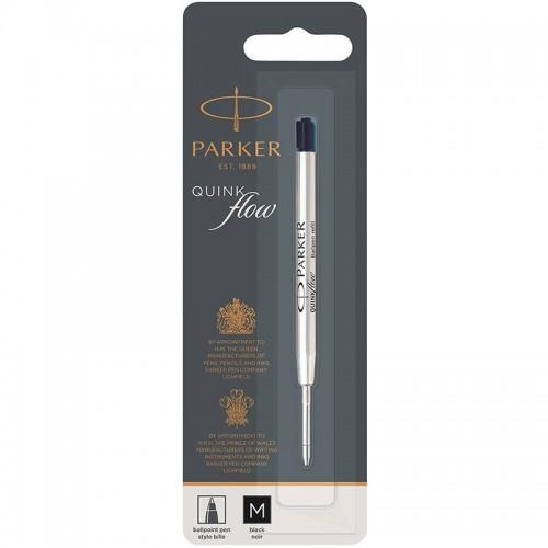 Чёрный шариковый стержень Parker Ball Pen Refill QuinkFlow Premium M Black в Уфе